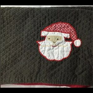 "Pottery Barn Christmas Santa Fleece Blanket 28x39"""